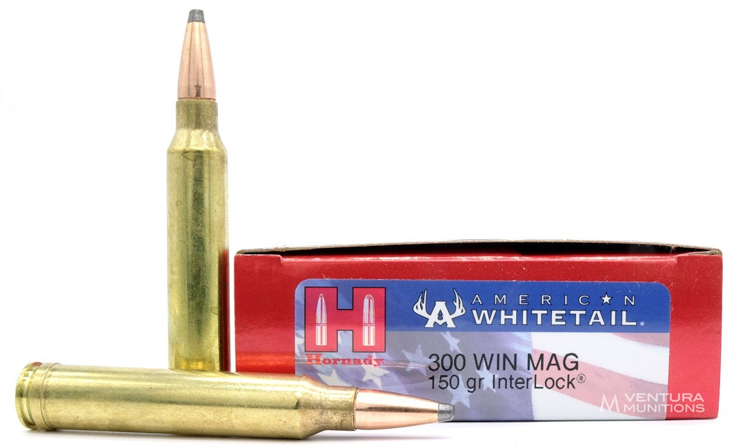 Hornady American Whitetail  300 Win Mag 150gr InterLock SP Ammo - 20 Rounds