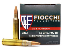 Fiocchi Shooting Dynamics .223 Rem 55gr FMJ Ammo - 50 Rounds
