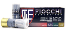 Fiocchi Exacta 12 Gauge 1oz Aero Low Recoil Slug Ammo - 10 Rounds