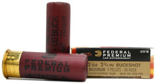 "Federal Tactical 12 Ga 00 Buckshot 2-3/4"" 9 Shot HV Ammo - 5 Rounds"
