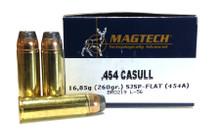 Magtech .454 Casull 260gr SJSP Ammo - 20 Rounds