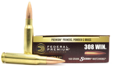 Federal Gold Medal Match .308 Win 168gr Matchking BTHP - 20 Rounds