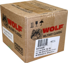 Wolf Military Classic 9mm 115gr FMJ Ammo - 500 Rounds