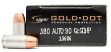Speer LE .380 ACP 90gr GHDP Ammo - 20 Rounds