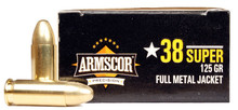 Armscor .38 Super 125gr FMJ Ammo - 50 Rounds