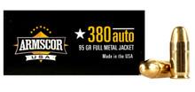 Armscor .380 ACP 95gr FMJ Ammo - 50 Rounds