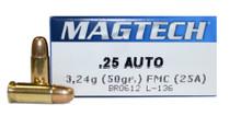 Magtech .25 ACP 50gr - 50 Rounds