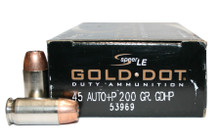 Speer .45 ACP 200gr +P Gold Dot GDHP - 50 Rounds