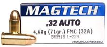 Magtech 32 ACP 71gr FMC Ammo - 50 Rounds