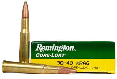 Remington 30-40 KRAG 180gr Express Core-Lokt PSP Ammo - 20 Rounds