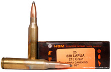 HSM 338 Lapua 215gr Gameking SBT Ammo - 20 Rounds