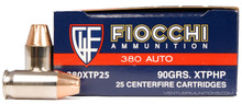 Fiocchi Extrema 380 ACP 90gr XTP JHP Ammo - 25 Rounds