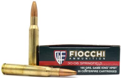 Fiocchi 30-06 Springfield 165gr Gameking HPBT Ammo - 20 Rounds
