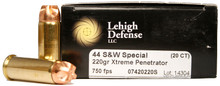 Lehigh Defense 44 Special 220gr Xtreme Penetrator - 20 Rounds