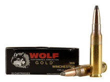 Wolf Gold .308 Win 150gr SP Brass Case Ammo - 20 Rounds
