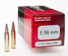 Black Hills 5.56 77gr TMK Ammo - 50 Rounds