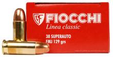 Fiocchi .38 Super Auto Ammo