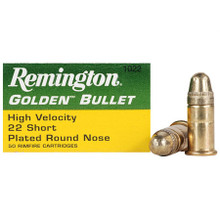 Remington .22 Short HV 29gr Plated RN Ammo - 50 Rounds