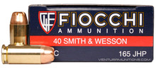 Fiocchi .40 S&W 165gr JHP Ammo - 50 Rounds