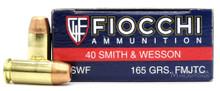 Fiocchi 40 S&W 165gr FMJ-TC Ammo - 50 Rounds