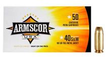 Armscor USA .40 S&W 180gr FMJ Ammo - 50 Rounds