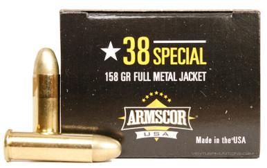 armscor 38 special 158gr fmj ammo 50 rounds ventura munitions