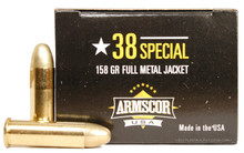 Armscor 38 Special 158gr FMJ Ammo - 50 Rounds