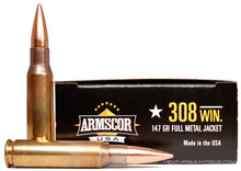 Armscor .308 Win / 7.62x51mm 147gr FMJ Ammo - 20 Rounds
