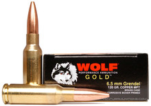 Wolf Gold 6.5 Grendel 120gr MPT Ammo - 20 Rounds