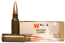 Wolf Military Classic 6.5 Grendel 100gr FMJ Ammo - 20 Rounds