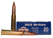 Prvi Patizan 303 British 174gr FMJ-BT Ammo- 20 Rounds