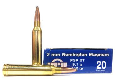 prvi partizan 7mm rem mag 140gr psp ammo 20 rounds ventura munitions