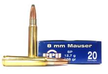 Prvi Partizan 8x57mm Mauser 196gr SP Ammo - 20 Rounds