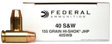 Federal .40 S&W 155gr Hi-Shok JHP Ammo - 50 Rounds