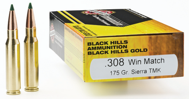 Black Hills 308 Win 175gr Tipped Matchking TMK Ammo - 20 Rounds