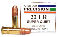 Armscor 22LR 36gr Super Quiet HP Ammo - 50 Rounds