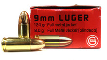 GECO 9mm 124gr RN FMJ Ammo - 50 Rounds