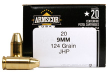 Armscor 9mm 124gr JHP Ammo - 20 Rounds