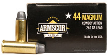 Armscor 44 Magnum 240gr SWC Ammo - 50 Rounds