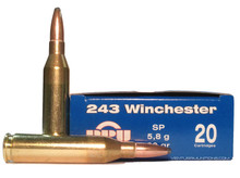 Prvi Partizan 243 Winchester 90gr SP Ammo - 20 Rounds