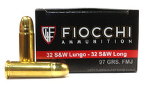 Fiocchi Shooting Dynamics 32 S&W Long 97gr FMJ Ammo- 50 Rounds