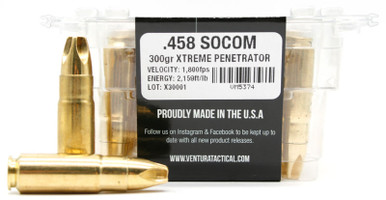Ventura Tactical Lehigh Supreme 458 Socom 300gr Extreme Penetrator Ammo- 20  Rounds