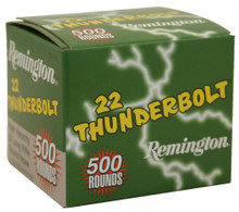 Remington Thunderbolt 22LR 40gr RN Ammo - 500 Rounds