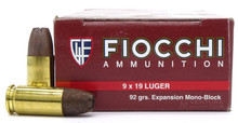 Fiocchi Extrema 9mm 92gr EMB Ammo - 50 Rounds