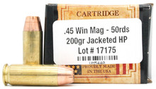 Ventura Heritage 45 Winchester Magnum 200gr JHP Ammo - 50 Rounds