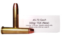 Load-X 45-70 Government 300gr TSX Ammo- 20 Rounds