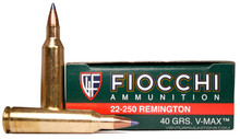 Fiocchi Extrema 22-250 40gr V-Max Ammo - 20 Rounds