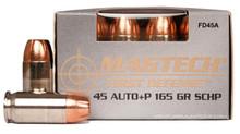 Magtech First Defense .45 ACP 165gr +P SCHP Ammo - 20 Rounds