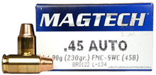 Magtech 45 ACP 230gr FMJ SWC Ammo - 50 Rounds