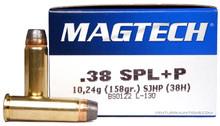 Magtech 38 Special 158gr SJHP +P Ammo - 50 Rounds